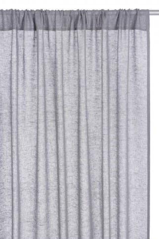 Habitat Grey Linen Sheer Readymade Curtains