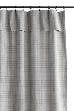 Smallable Washed Grey Check Readymade Curtains