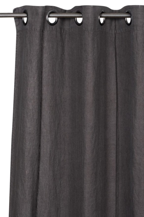 Smallable Washed Grey Linen Readymade Curtains