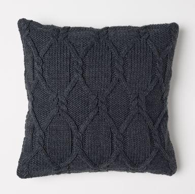 cosy autumn blog - grey knit cushion