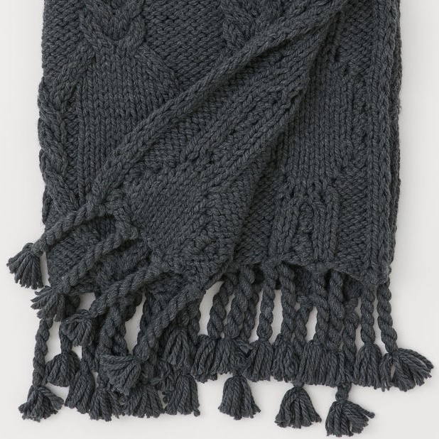 cosy autumn blog - grey knit throw