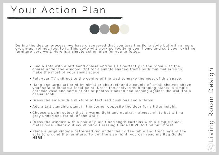 interior design action plan