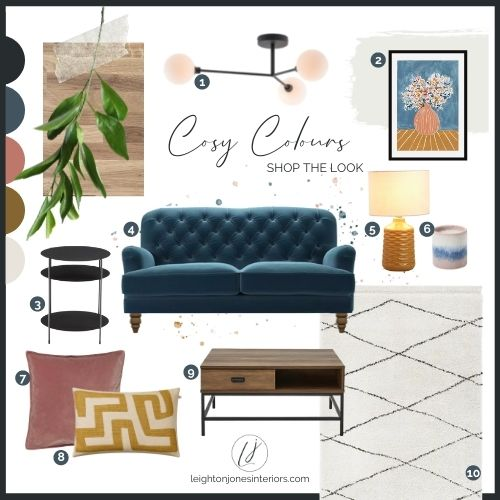 Living Room Interior Design Moodboard