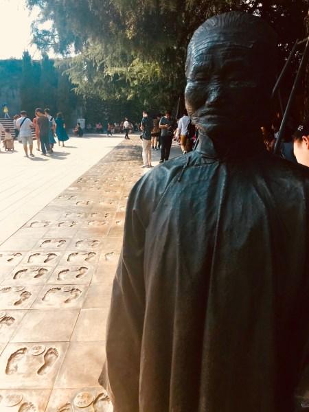 Pathway of Historical Witnesses Footprints Nanjing Massacre Memorial China