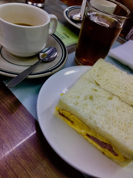 Egg and ham sandwich Nam Peng Cafe Macau
