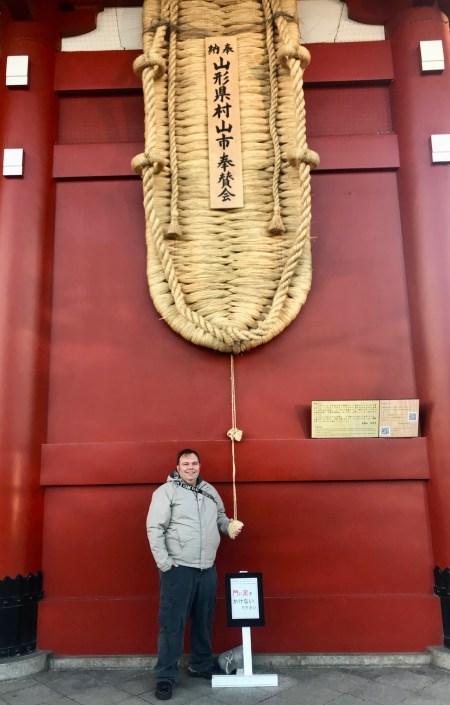 Giant straw sandals Hozomon Gate Sensoji Temple Tokyo