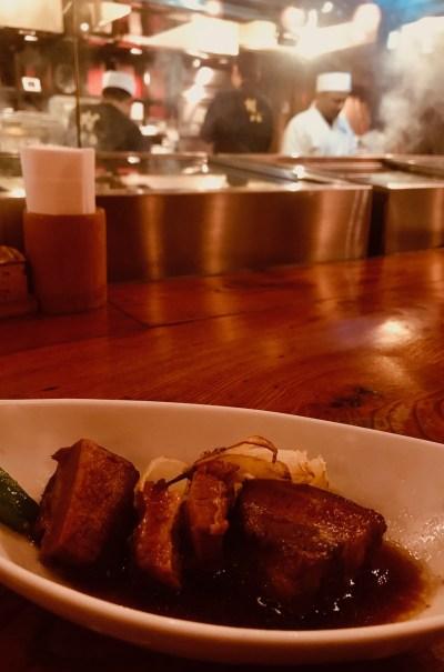 Pork belly dish Kill Bill Restaurant Gonpachi Nishiazabu Tokyo