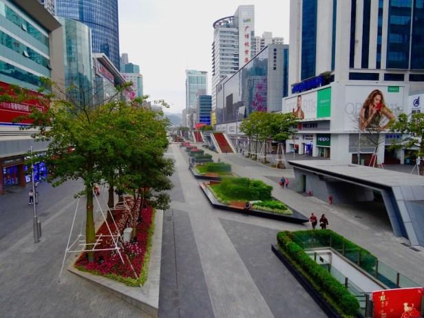 Huaqiangbei Electronics District Shenzhen China.
