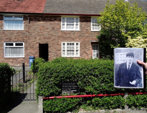 Paul McCartney childhood home 20 Forthlin Road Liverpool.