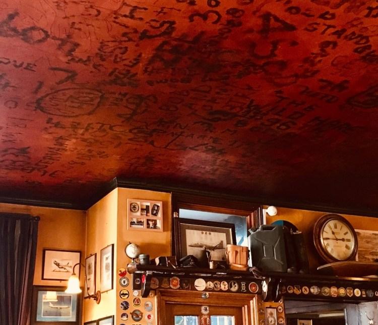 RAF Lounge. ceiling The Eagle Pub Cambridge.
