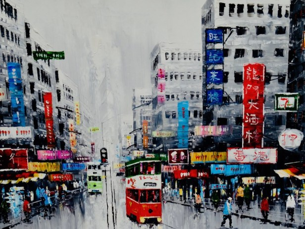 Retro Hong Kong painting Dafen Oil Painting Village Shenzhen.