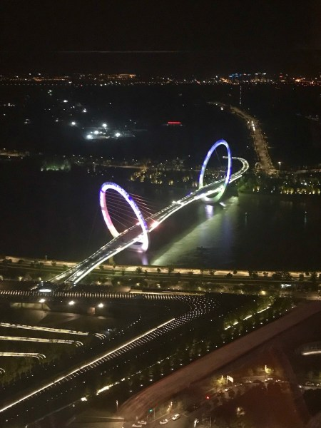 The Nanjing Eye from the 67th floor of Jumeirah Nanjing China.