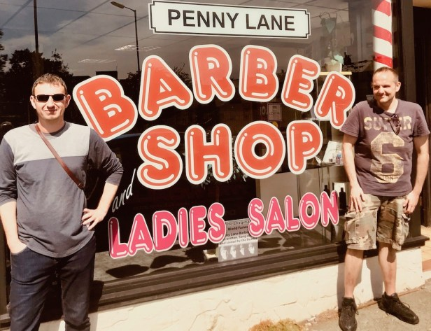 Tony Slavin Barber Shop Penny Lane Mad Day Out Beatles Taxi Tour.
