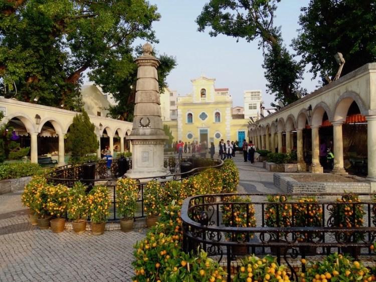 Visit Eduardo Marques Square Coloane Island Macau.