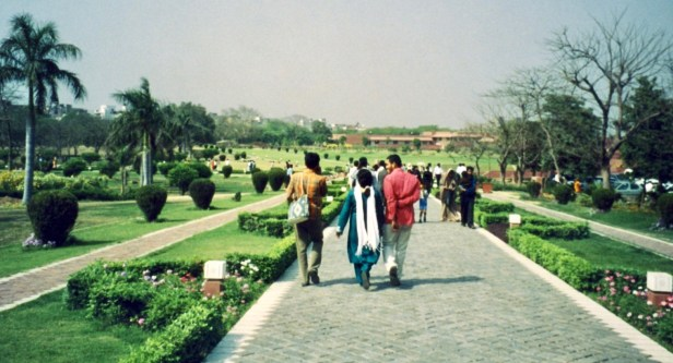 Lotus Temple Gardens New Delhi India.