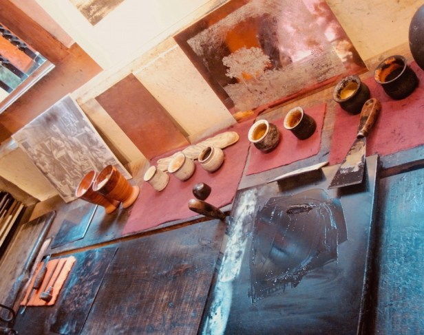 Painting workshop Rembrandt House Museum Amsterdam.