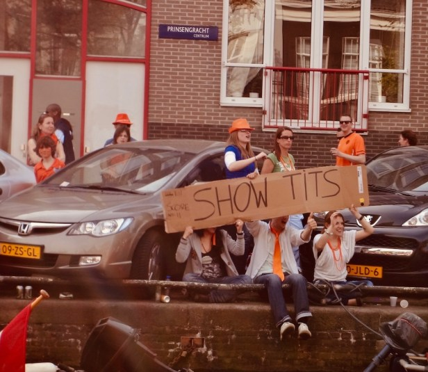 Show Tits Queen's Day Amsterdam.