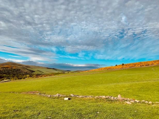 Meigle Circular walking route Galashiels Scotland.