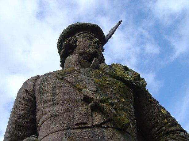 The Unknown Highlander Glenfinnan Monument Scotland.