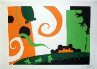 Paper-cutting from Art I, in the style of by Henri Matisse.