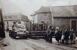 Photo of arriving troops on liberation day in Soultz