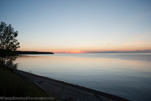 Sunset on Lake Superior - 10:30 local time!