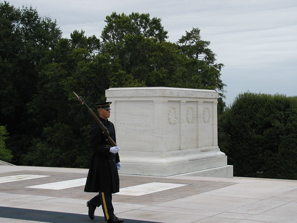 9.10.09 - Arlington National Cemetary - guarding the tomb of the Unknown Soldier