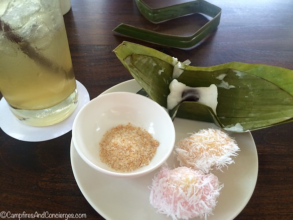 Sweet treats to end the food tour; and lemongrass tea, which was tasty!