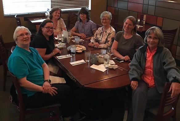 Dinner at Racine's in Denver with Kathy, Lina, Karen, Margaret, Cheryl and Deborah