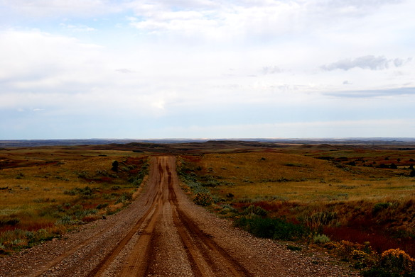 Eastern Montana - this is what a yellow dotted line road is....looked like a shortcut, but took much longer!