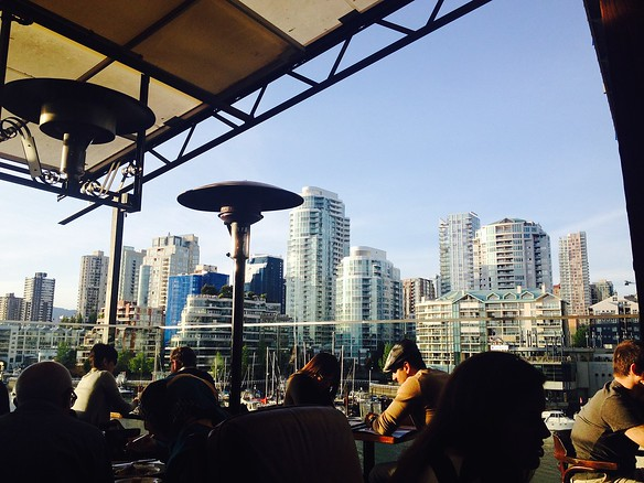 View of Vancouver from the Sandbar on Granville Island