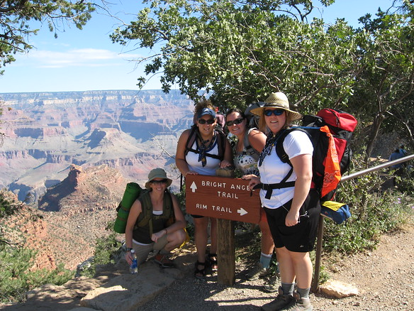 9/7 - Bright Angel Trail - Jenny, Amy, me, Olivia