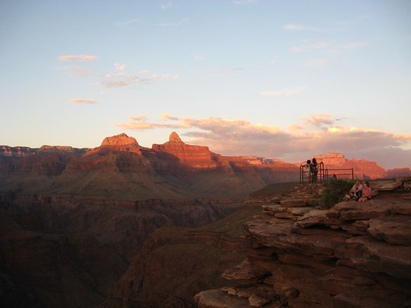 9/7 - sunset at Plateau Point.