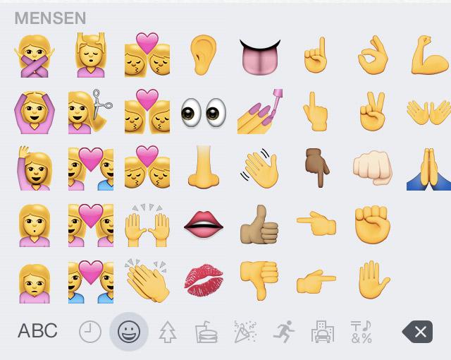 Apple komt met politiek correcte emoji's | apple-emoji-8-3-2