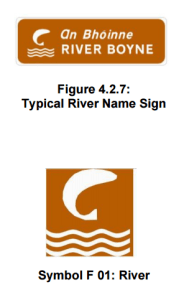 River Signs, information road signs, geographical information signs, information traffic signs