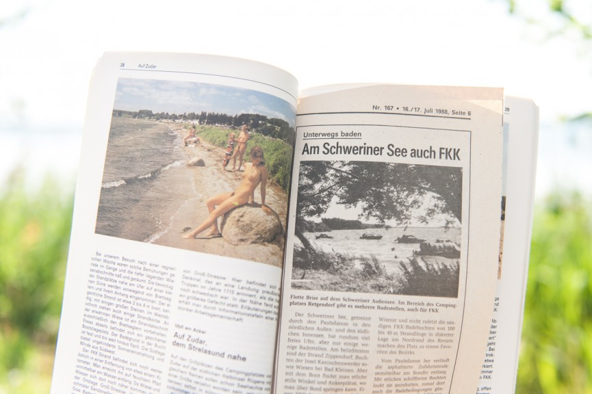 Relaxing in one's birthday suit and tips on where to do it in the GDR. (Photo: Jo Zarth)