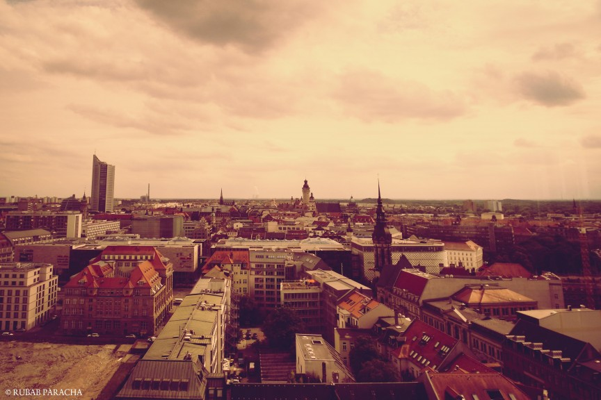Leipzig from up high. Photo: Rubab Paracha