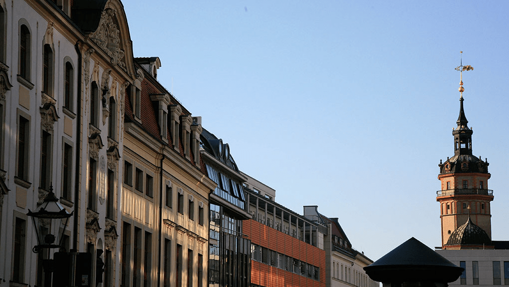 Leipzig city center. Photo: maeshelle west-davies