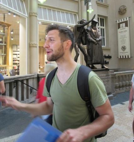 Matej takes on Faust and Mephisto in Leipzig. (Photo: Ana Ribeiro)