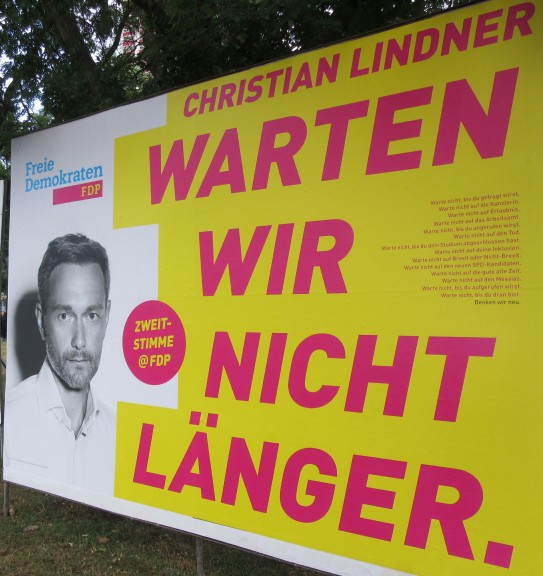 "The FDP and its leader, Christian Lindner: ""Let us wait no longer."" (Photo: Maximilian Georg)"