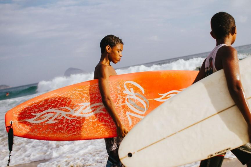 Surfer boy in Rio de Janeiro. (Photo: Kay Fochtmann)