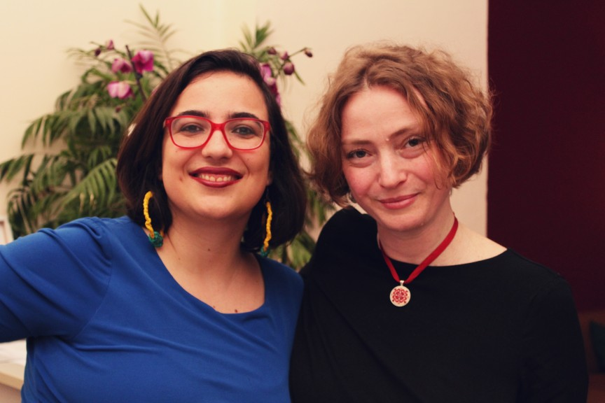 Leipglo Editor-in-Chief Ana Beatriz Ribeiro and author Svetlana Lavochkina join forces to bring you our first literary contest, 1003 Nights. (Photo: Sarah Alai)