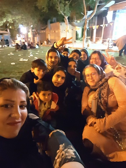 The author's favourite selfie in Isfahan, on Imam Madhi holiday. Photo © Anne-Coralie Bonnaire