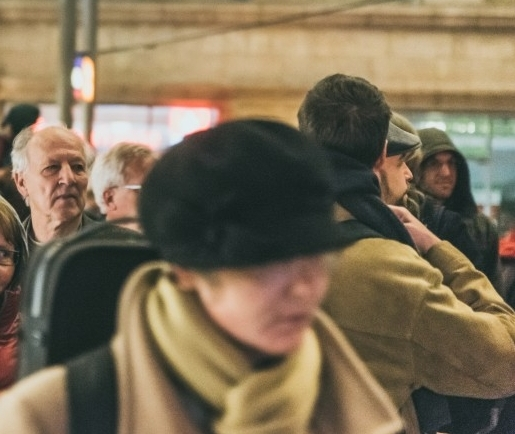 "Werner Herzog in the middle of audience at Hbf, watching his own film, ""Meeting Gorbachev,"" 29 Oct 2018. (Photo: Justina Smile Photography)"