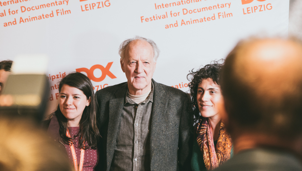 Fan girls take a selfie with Werner Herzog, CineStar Leipzig, 29 Oct 2018. (Photo: Justina Smile Photography)