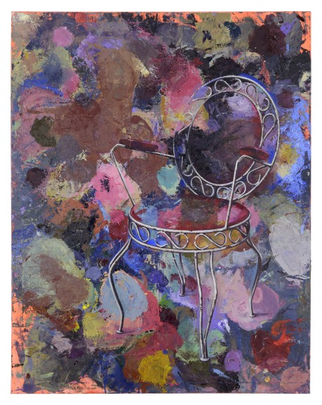 Katrin Heichel, Eiscafé Florenz 2018, Oil on Canvas, 140x110cm, photo courtesy of Josef Fillipp Gallery