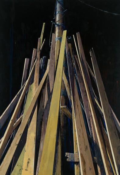 Katrin Heichel, Scheitern (Connection), 2013 210 x 300 cm | oil and egg tempera on canvas
