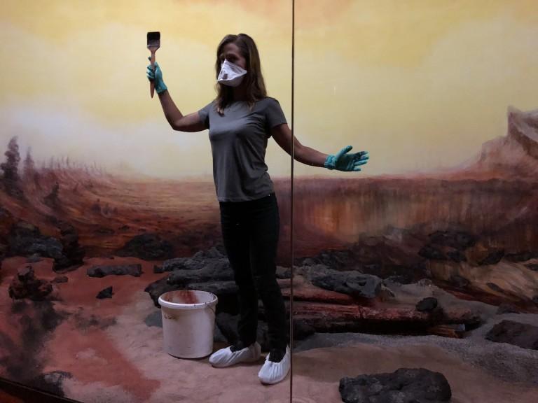Photo: Elizabeth Gerdeman. Mars Diorama by artist Joi Bittle for artist Dominique Gonzalez-Foerster's exhibition Martian Dreams Ensemble at GfZK.