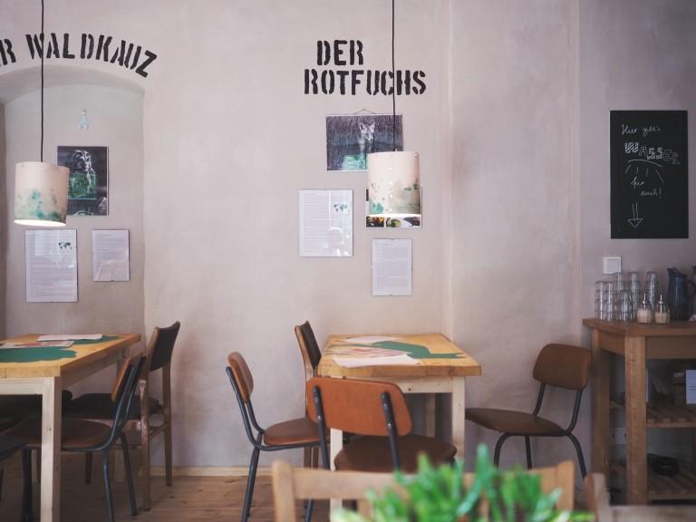 "Café Oink's ""museum"" side. (Photo © Lisa Striegler)"