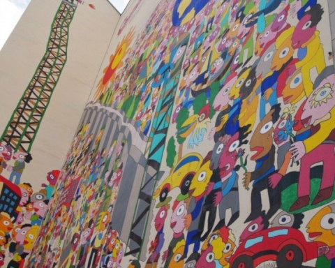 Urban art in Leipzig by Michael Fischer. (Photo: maeshelle west-davies)